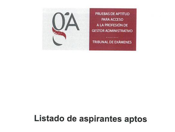 Publicada la relación de aptos de las pruebas de acceso a la profesión de Gestor Administrativo