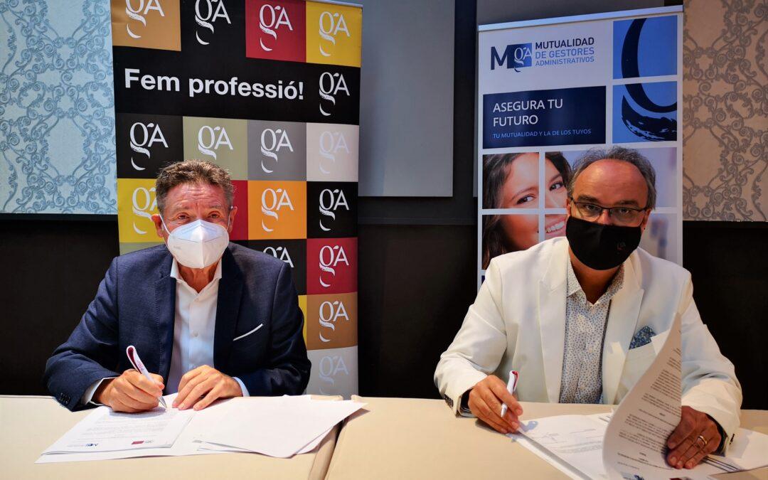 Renovación del convenio de colaboración entre la Mutualidad y el Colegio de Gestores Administrativos de Cataluña